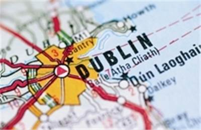 Dublin on a map